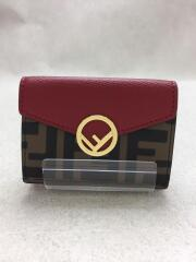 MICRO TRIFOLD/フェンディ/3つ折り財布/レッド