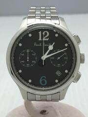 クォーツ腕時計/アナログ/ステンレス/BLK/シルバー/GN-OW-S