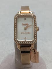 14502825/コーチ/クォーツ腕時計/アナログ/ステンレス