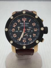 クォーツ腕時計/エイトスター/アナログ/レザー/BLK/BRW/NES46