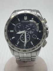 ソーラー腕時計/アナログ/ステンレス/NVY/傷、汚れあり/E610-S07321
