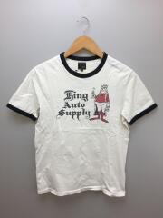 Tシャツ/M/コットン/WHT/King Auto Supply