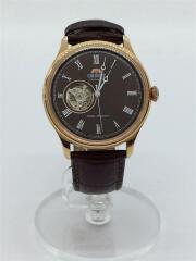 自動巻腕時計/アナログ/レザー/ブラウン/AG00-D0-A