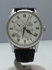 自動巻腕時計/アナログ/レザー/ホワイト/ブラック/AK00-C0-B