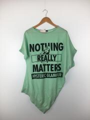 NOTHING REALLY MATTERS ptプルオーバー/セーター/FREE/コットン/GRN/01192NS