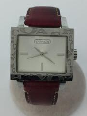 クォーツ腕時計/アナログ/レザー/SLV/BRD/ca.14.7.14.0430/8.613.232