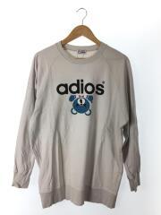 ADIOS プリントビッグTシャツ 01181CL02/FREE/コットン/GRY