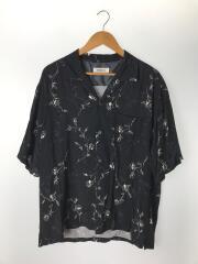 フラワープリントオープンカラーシャツ/XL/レーヨン/BLK/83161490245