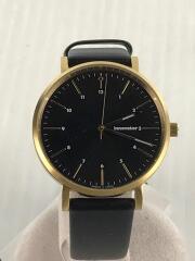 クォーツ腕時計/アナログ/BLK/IN-0007-13
