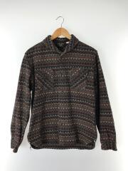 JACK SHIRT/ラグショールカラーコットンネルシャツ/L/コットン/BRW/総柄
