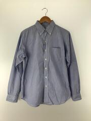 長袖シャツ/2/コットン/BLU