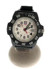 NAVY SEAL 3500 SERIES/腕時計/アナログ/ラバー/ホワイト×ブラック