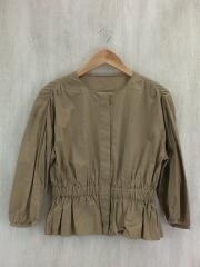 コットンブロードギャザーノーカラーシャツ/FREE/コットン/BEG/1611-699-1983