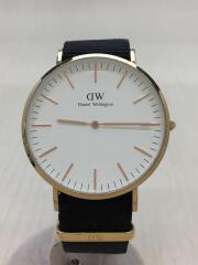 DW00100257/箱/ギャラあり/タグ付き/クォーツ腕時計/アナログ/--/WHT/BLK
