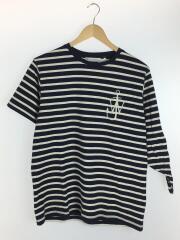 Tシャツ/M/コットン/NVY/ボーダー/913565