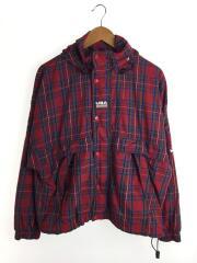 Plaid Swoosh Stripe Jacket/マウンテンパーカ/M/ナイロン/マルチカラー/チェック