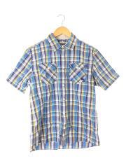 d1m17-316-24/半袖/ショートスリーブシャツ/3/コットン/BLU/タータンCK/中古