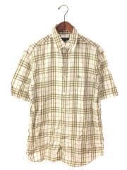 FE840-122-63/日本製/半袖/ショートスリーブシャツ/L/コットン/WHT/チェック/中古