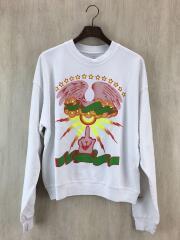 汚れ有/M25752/Cropped Crewneck Sweatshirt w/ Print/S/中古