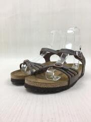0085063/Bali/バリ/レザーストラップサンダル/24.5cm/BRW/中古