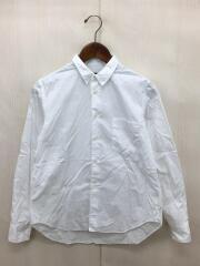 汚れ有/1J-B022/AD2014/レギュラーカラーシャツ/XS/コットン/WHT/長袖/無地中古