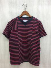 16-01042M/MADE IN JAPAN/日本製/Tシャツ/1/コットン/ボーダー/半袖/中古