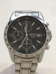 セイコー/クォーツ腕時計/アナログ/ステンレス/BLK/SLV/7T92-0DW0
