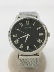 ゲス/W0406G1/クォーツ腕時計/アナログ/ステンレス/BLK/SLV/ウェハー/WAFER