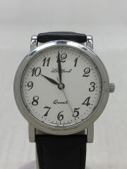 ORIENT/オリエント/クォーツ腕時計/アナログ/レザー/WHT/BLK