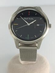 ポールスミス/クォーツ腕時計/アナログ/ステンレス/NVY/SLV/2510-T022570/カレンダー