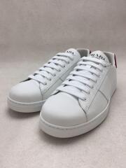 プラダ/ローカットスニーカー/US6/WHT/レザー/White Leather Fashion Sneakers