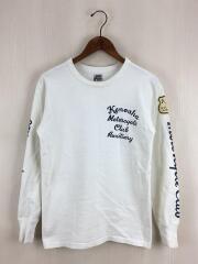 ウエストライド/長袖Tシャツ/36/コットン/WHT/無地/首回りの汚れ有