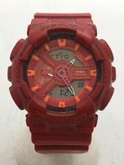カシオ/クォーツ腕時計・G-SHOCK/デジアナ/ラバー/RED/RED/使用感有