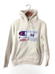シュプリーム/18AW/Champion Label Hooded Sweatshirt/M/コットン/GRY