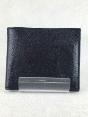 IL BISONTE/イルビゾンテ/2つ折り財布/レザー/BLK