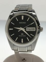 Grand Seiko/グランドセイコー/クォーツ腕時計/アナログ/ステンレス/BLK/SLV