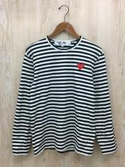 プレイコムデギャルソン/AZ-T164/AD2020/7/長袖Tシャツ/M/コットン/BLK/ボーダー