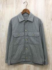 アバハウス/オープンカラーシャツジャケット/長袖シャツ/46/ポリエステル/BRW/チェック