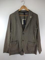 EELJM19/ジャガード織り/ニットジャッケット/ブートニエール付き/テーラードジャケット/S