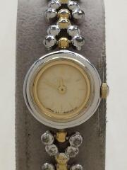 PDP-GP/クォーツ腕時計/アナログ/ステンレス/ベージュ