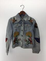 Embroidered Denim Jacket/Gジャン/デニムジャケット/36/デニム