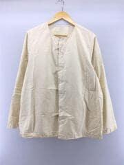 PAPER COLLARLESS SHIRT/10HC94/長袖シャツ/M/コットン/ベージュ
