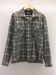 オープンカラーウールネルシャツ/P18FM001/ネルシャツ/L/ウール/ブラック
