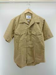 DSCP/オープンカラーシャツ/半袖シャツ/16/コットン/ブラウン