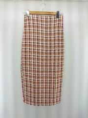 ロングスカート/M/ツイード/マルチカラー