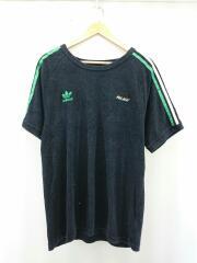 Tシャツ/L/コットン/BLK/パイル地