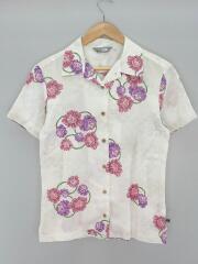 アロハシャツ/開襟シャツ/オープンカラーシャツ/半袖シャツ/M/コットン/ホワイト