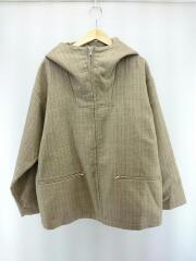 タグ付/20AW/BLUEFACED WOOL DOUBLE CLOTH ZIP HOODIE/4/ウール