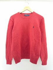 セーター(厚手)/M/ウール/RED
