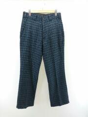 20AW/Basic Trouser Fancy Tweed/HM098/ストレートパンツ/S/ネイビー